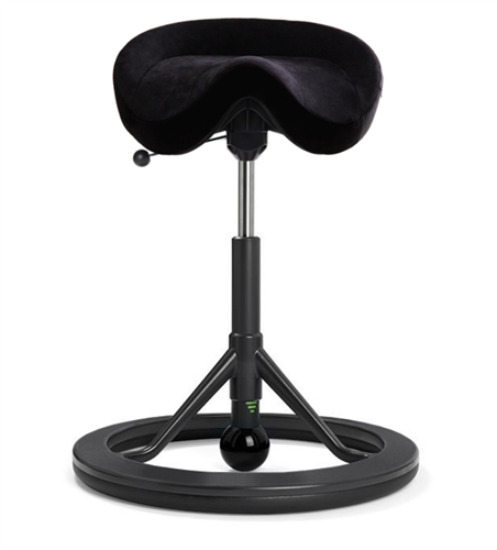 Backapp Chair, Black Grey, Alcantara Black, Black ball
