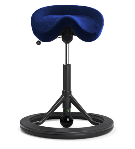 Backapp Chair, Black Grey, Alcantara Commodore Blue, Black ball